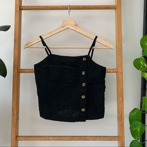All About Eve Girls Petite Black Camisole Crop Top